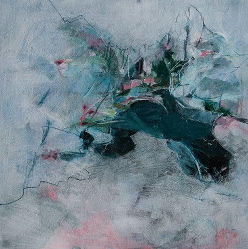 loca amoena.hiems | Acryl und Pastellkreide auf Leinwand |100 x 100 cm | 2018
